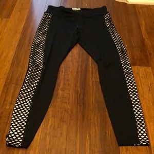 Forever 21 black&white ActiveWear pants